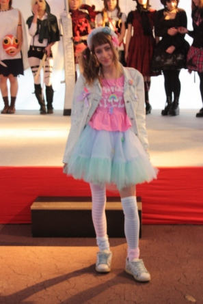 "Ivona in fairy kei style (clothes by MyauMania) for pop culture program ""Day of Japan""."